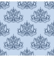 Stylized blue indian lotus seamless pattern vector image vector image
