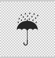 umbrella and rain drops icon isolated vector image