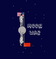 us and china moon war astronaut china and us vector image vector image