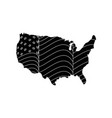 usa country map icon vector image vector image