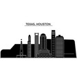 usa texas houston architecture city vector image vector image