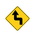 usa traffic road signsthe road ahead curve vector image vector image