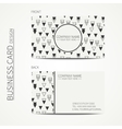 Vintage hipster simple monochrome business card vector image vector image