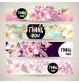 Vintage templates set spring horizontal banner vector image