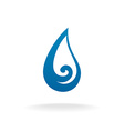 Water drop logo template vector image