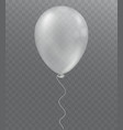 white balloon on transparent background vector image