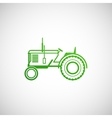 with tractor farm concept vector image