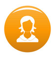 woman user icon orange vector image