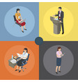 working moments on business coaching four icons vector image vector image