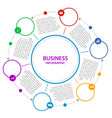 abstract business infographics timeline wit vector image
