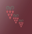 Wine Grapes Bunches vector image