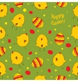Easter eggs and chickens Abstract seamless vector image