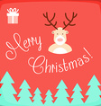 Merry Christmas card with deer vector image