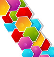 abstract background with paper colored polygonal vector image vector image