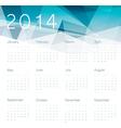 abstract calendar 2014 vector image