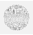 Alternative energy round vector image vector image