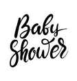 bashower hand drawn lettering phrase isolated vector image vector image