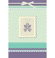 Beautiful vintage greeting card vector image