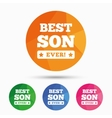 Best son ever sign icon Award symbol vector image