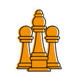 bishop and pawns chess piece icon image vector image vector image
