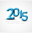 blue low poly happy new year 2015 card vector image vector image