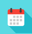 calendar icon flat design isolated with long vector image