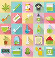 cannabis icon set flat style vector image
