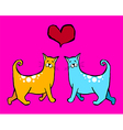 Cats Valentines vector image vector image