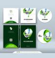 cd envelope dvd case design orange corporate vector image