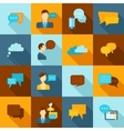 Chat icons flat vector image vector image