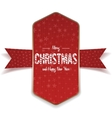 Christmas realistic big red and gold Banner vector image