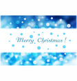 christmas snowflakes and white strip for text on vector image
