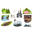 collection natural resources design vector image vector image
