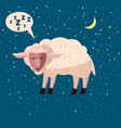 cute cartoon sheep isolated vector image vector image