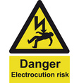 Danger Electrocution Risk Safety Sign