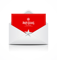 Envelope and red card merry christmas vector | Price: 1 Credit (USD $1)