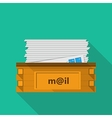 Flat icon for a mailbox for site and business vector image