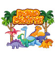 font design for word dino party with many vector image vector image