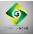 G letter colorful logo in the rhombus template for vector image