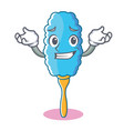 grinning feather duster character cartoon vector image vector image