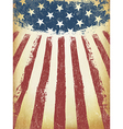 Grunge Aged American Flag Background Template vector image vector image