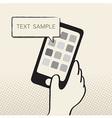 HandPhone vector image vector image