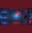 hud ui gui futuristic frames user interface vector image