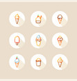 ice cream circle icons vector image vector image