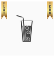 Ice drink with straw vector image vector image