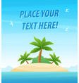 landscape with tropical island - travel poster or vector image