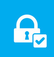 lock icon with check sign vector image vector image