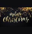 merry christmas greeting card and golden vector image vector image