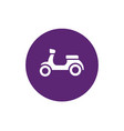 motorcycle and purple circle shape icon vector image vector image