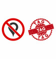 no map marker icon with grunge tag seal vector image vector image
